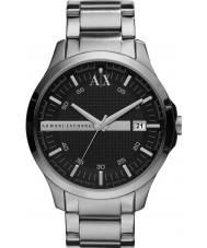 Armani Exchange AX2103 prata preto relógio de vestido pulseira dos homens