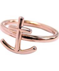 Edblad 81073 Anchor anel de ouro rosa - tamanho l (xs)