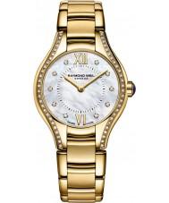 Raymond Weil 5124-PS-00985 Ladies ouro Noêmia banhado relógio de diamantes