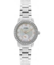 Rotary LB02700-41 Senhoras relógios relógio de aço de prata Cambridge