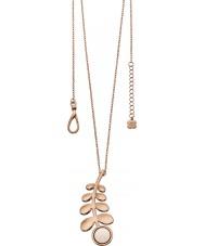 Orla Kiely N4016 Ladies amigo Rosa longa linha colar de pingente de ouro haste