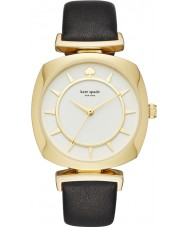 Kate Spade New York KSW1224 caso tv Ladies couro preto relógio pulseira