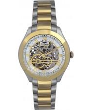 Rotary GB90515-10 Mens les originales jura de prata de ouro relógio automático