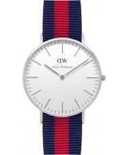 Daniel Wellington DW00100046 Ladies clássico oxford 36 milímetros relógio de prata