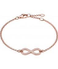 Thomas Sabo A1310-416-14 Senhoras 18k rosa ouro banhado eternidade de amor infinito pulseira