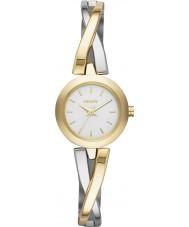 DKNY NY2171 Ladies crosswalk relógio de prata de ouro