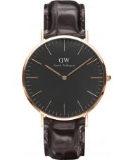 Daniel Wellington DW00100128 relógio clássico 40 milímetros york preto