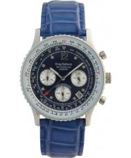 Krug-Baumen 400507DS Air diamante viajante mostrador azul pulseira azul