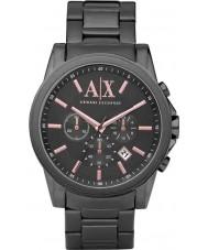 Armani Exchange AX2086 cinza relógio de vestido cronógrafo ip dos homens