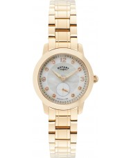 Rotary LB02702-41 Senhoras relógios Cambridge ouro rosa relógio banhado