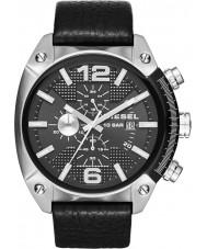 Diesel DZ4341 Mens estouro do cronômetro de couro preto relógio pulseira