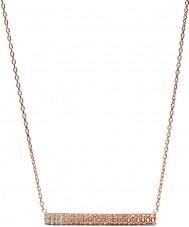 Fossil JF02144791 Ladies vintage aumentou brilho de ouro bar colar