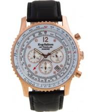 Krug-Baumen 600702DS Mens viajante ar relógio de diamantes