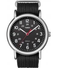 Timex T2N647 Mens todos weekender preto deslizar através de relógio