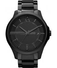 Armani Exchange AX2104 ip preto relógio de vestido pulseira dos homens
