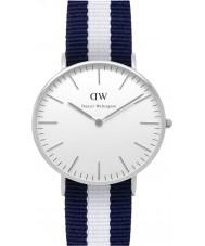 Daniel Wellington DW00100047 Ladies clássico glasgow relógio 36 milímetros de prata