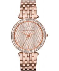 Michael Kors MK3439 Ladies darci conjunto de pedra em ouro rosa relógio banhado