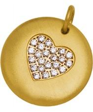 Edblad 31630106 Ladies charmentity coração banhado a ouro pingente grande