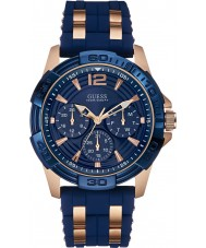 Guess W0366G4 Mens oásis dois tons relógio pulseira de silicone