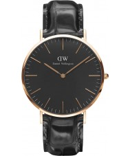 Daniel Wellington DW00100129 relógio clássico 40 milímetros de leitura preto