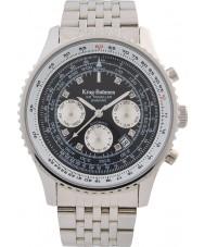 Krug-Baumen 600303DSA Mens air traveler diamante relógio automático