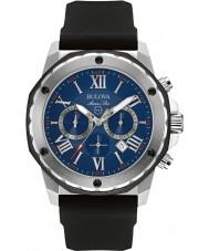 Bulova 98B258 Mens estrela marinha cronógrafo Black Watch