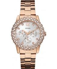 Guess W0335L3 Ladies dazzler subiu banhado a ouro pulseira de relógio