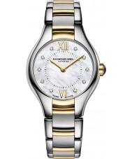 Raymond Weil 5124-STP-00985 Ladies Noêmia dois tons de aço do diamante do relógio