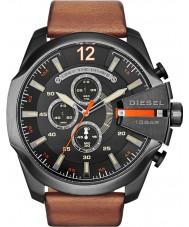 Diesel DZ4343 Mens mega-chefe relógio cronógrafo tan preto