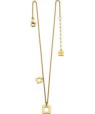 Orla Kiely N4040 Senhoras prata esterlina ouro banhado quatro colar de flores pontas