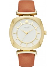 Kate Spade New York KSW1225 Ladies caso tv luz de couro marrom relógio de pulseira