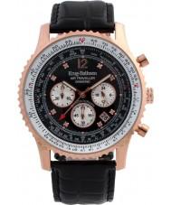 Krug-Baumen 600703DS Mens viajante ar relógio de diamantes