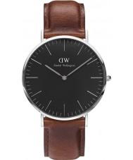 Daniel Wellington DW00100130 st relógio preto clássico mawes 40 milímetros