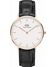 Daniel Wellington DW00100041 Senhoras 36 milímetros leitura clássica de couro preto relógio pulseira
