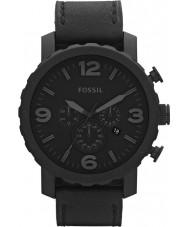 Fossil JR1354 Mens relógio preto cronógrafo nate