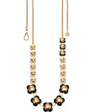Orla Kiely N4020 Ladies Daisy Chain 18 quilates de ouro monocromática longo colar de flores