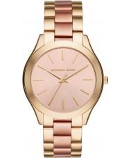 Michael Kors MK3493 Senhoras magro ouro pista e subiu pulseira relógio
