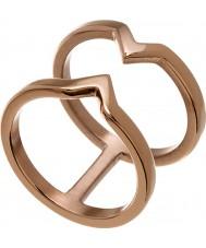 Edblad 116130176-S Ladies vitória subiu banhado a ouro anel - tamanho n (s)