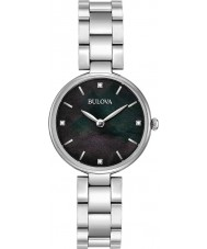 Bulova 96S173 Senhoras diamantes prata pulseira de relógio