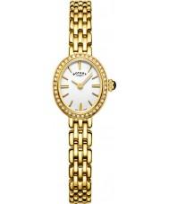 Rotary LB05051-02 Senhoras relógios cocktail banhado a ouro pulseira relógio