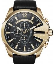 Diesel DZ4344 Mens mega-chefe relógio cronógrafo ouro negro