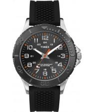 Timex TW2P87200 rua Taft dos homens de silicone preta relógio de pulseira
