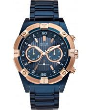 Guess W0377G4 sacudida Mens aço azul relógio cronógrafo