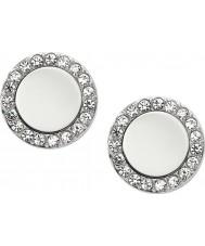 Fossil JF01791040 Senhoras clássicas de aço espelhado brincos de prata
