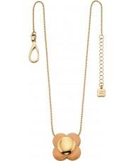 Orla Kiely N4023 Ladies Daisy Chain 18 quilates corar de ouro pingente de flor