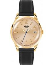 Henry London HL39-S-0006 Westminster meados champanhe relógio preto