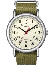 Timex T2N651 Mens natural de oliveira weekender deslizar através de relógio