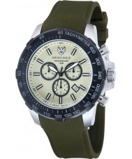 Swiss Eagle SE-9065-09 Mens Herzog relógio cronógrafo verde
