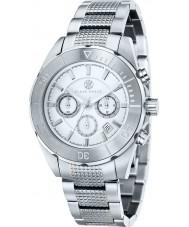 Klaus Kobec KK-20005-05 Mens chronos tom de prata relógio de aço