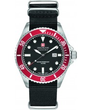 Swiss Military 6-4279-04-007-04 Mens leão-marinho de nylon preto relógio pulseira